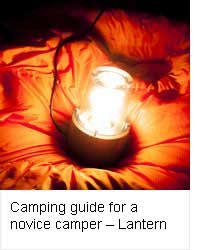 Camping guide for a novice camper - Lantern