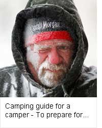 Camping guide for a camper – To prepare for cold