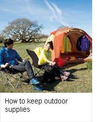 How to keep outdoor supplies