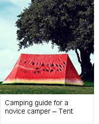 Camping guide for a novice camper - Tent