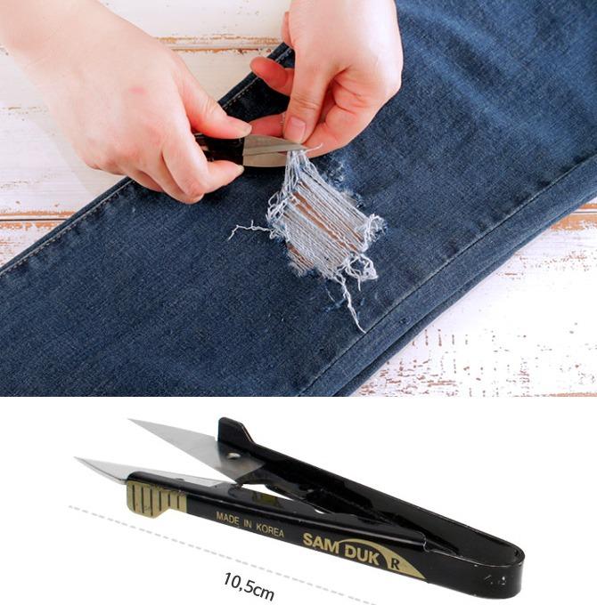 Tweezing type scissors